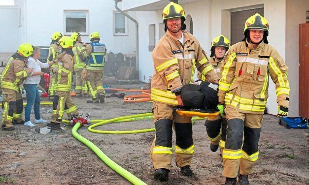 Bei der Alarmübung explodiert Gas